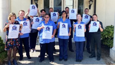 Netley Court celebrates Top 20 Care Home in the South East Award