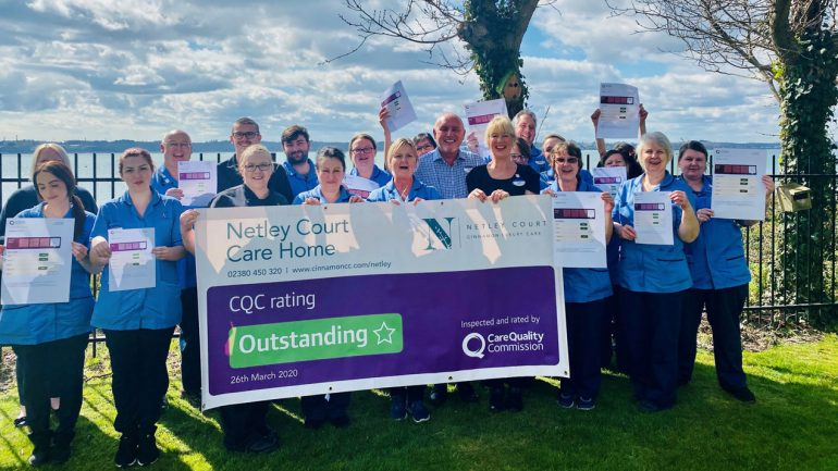Netley Court celebrates 'outstanding' CQC rating
