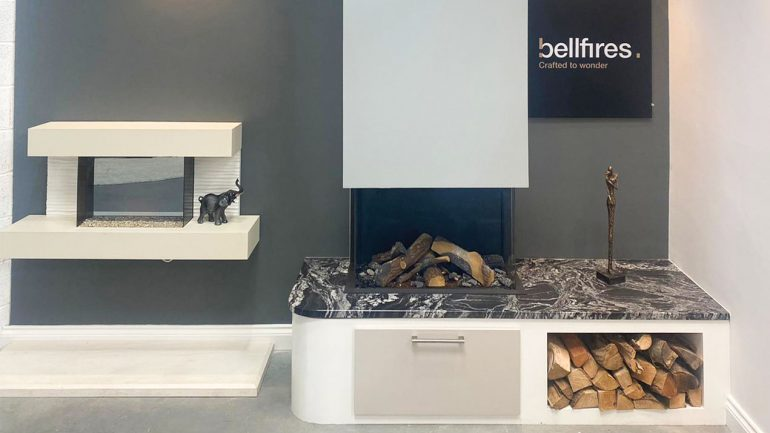 By The Fire; visit our brand new stylish showroom!
